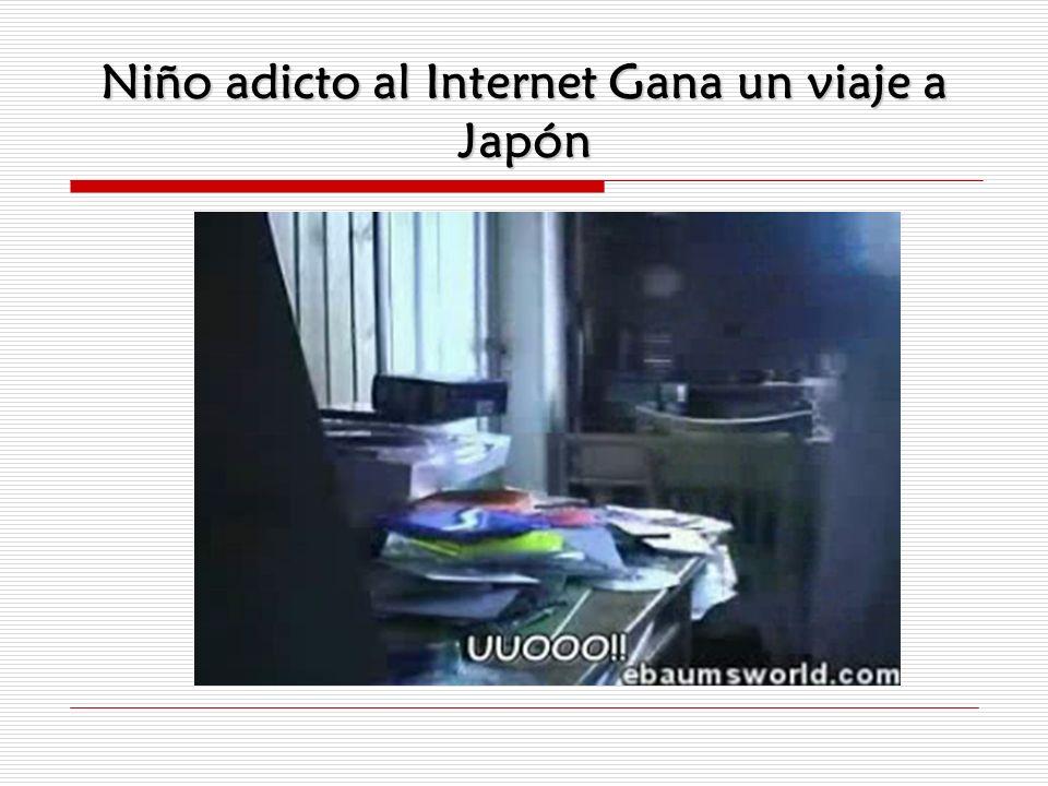 Niño adicto al Internet Gana un viaje a Japón