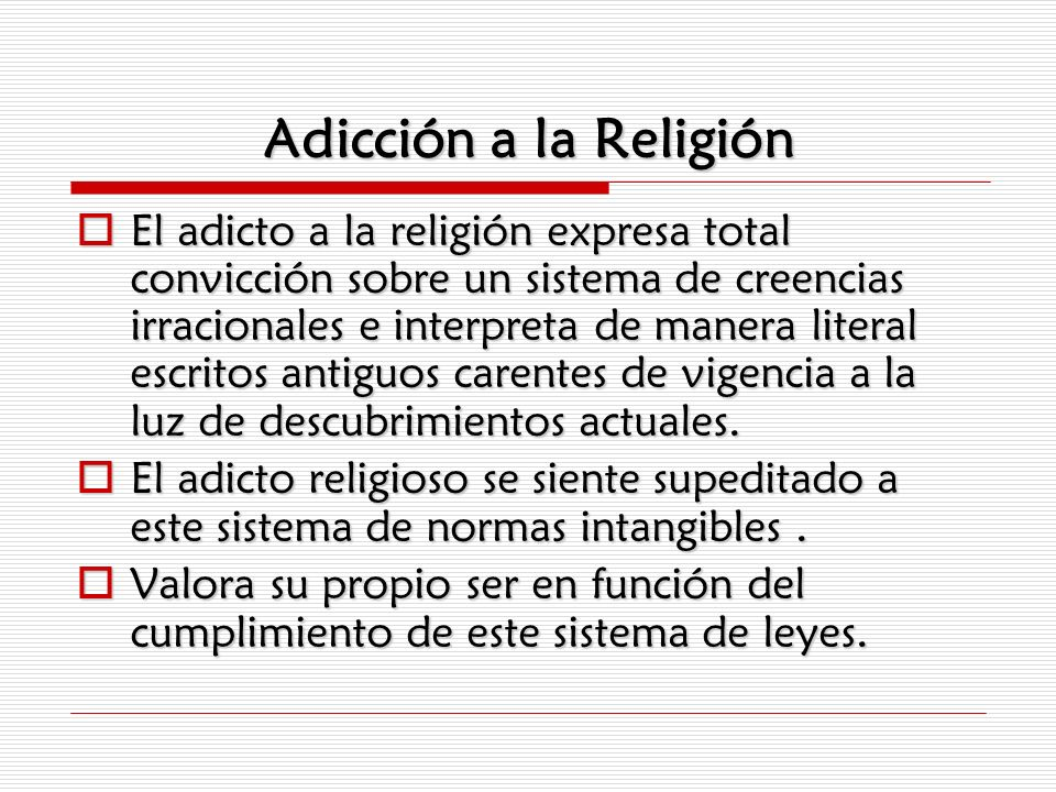Adicción a la Religión