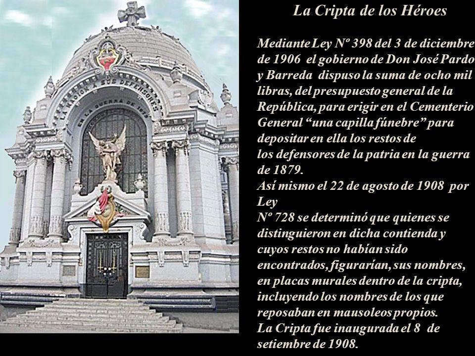 La Cripta de los Héroes Mediante Ley Nº 398 del 3 de diciembre