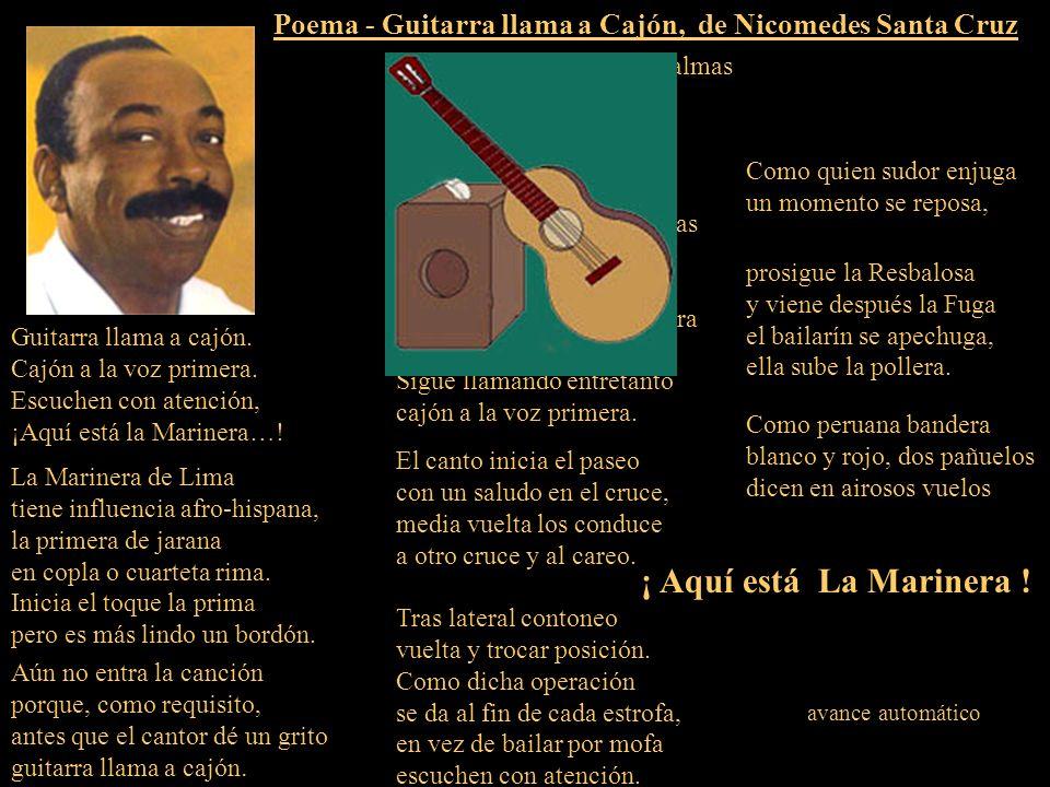 Poema - Guitarra llama a Cajón, de Nicomedes Santa Cruz