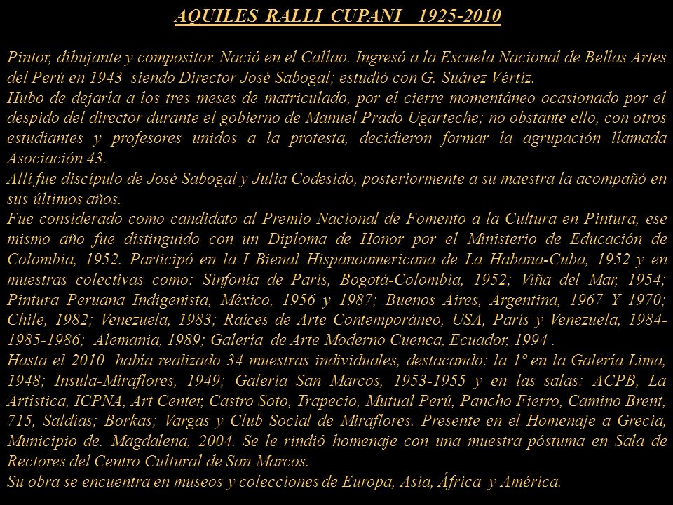 AQUILES RALLI CUPANI 1925-2010