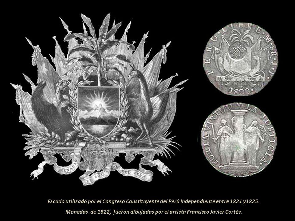 Escudo utilizado por el Congreso Constituyente del Perú Independiente entre 1821 y1825.