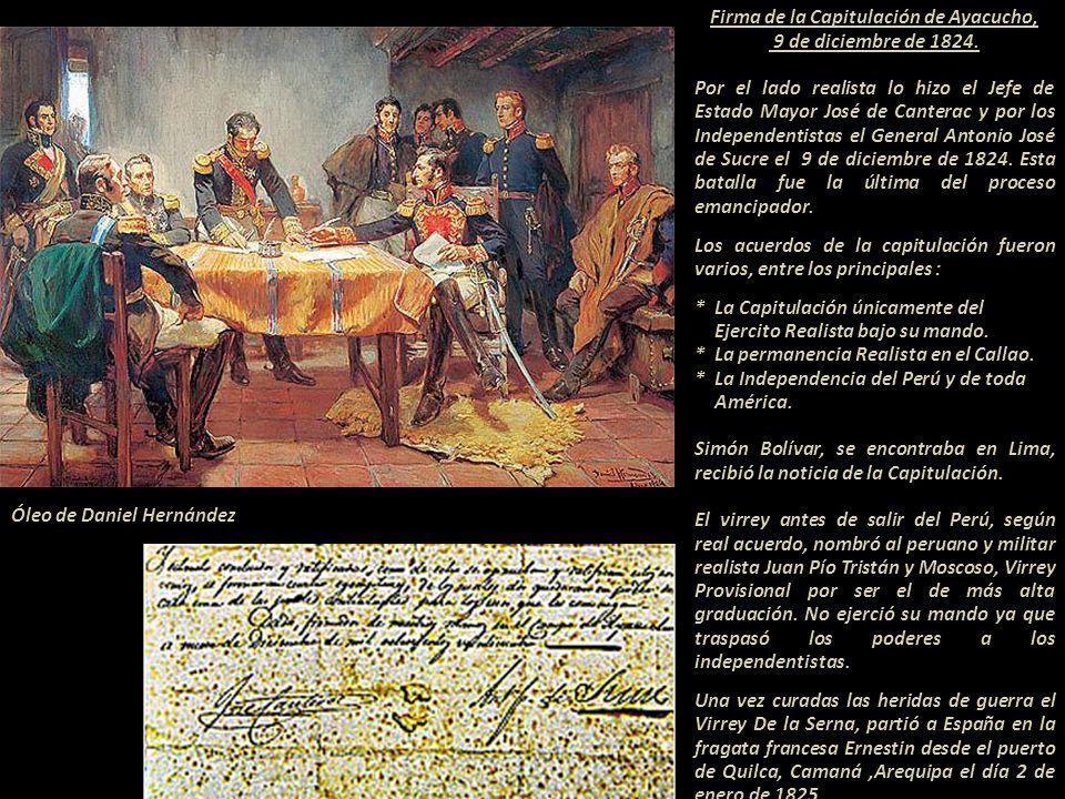 Firma de la Capitulación de Ayacucho,