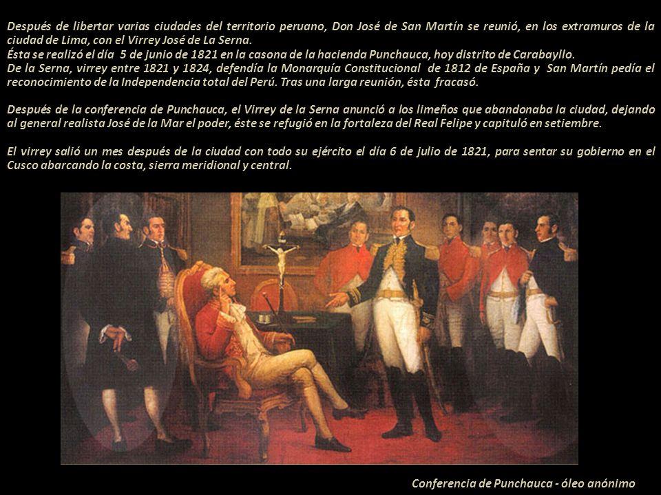 G Conferencia de Punchauca - óleo anónimo
