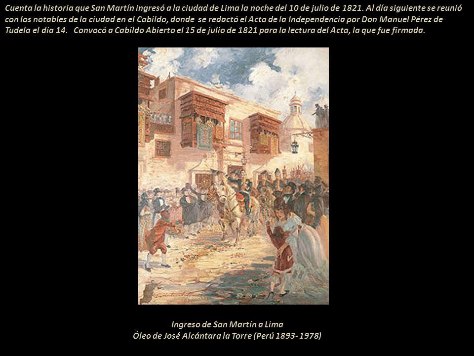 Ingreso de San Martín a Lima
