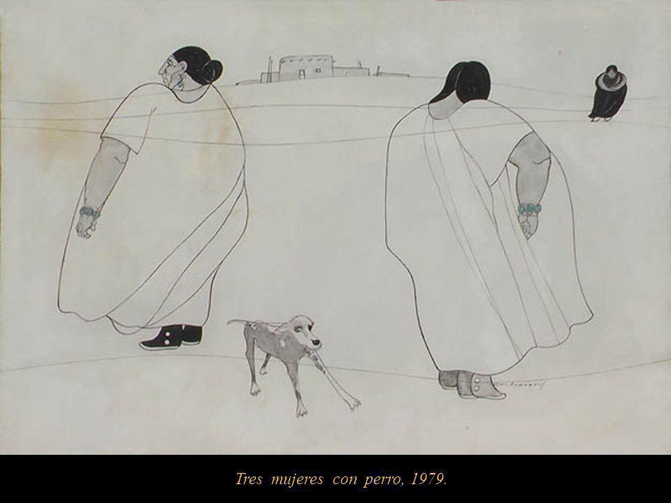 Tres mujeres con perro, 1979.