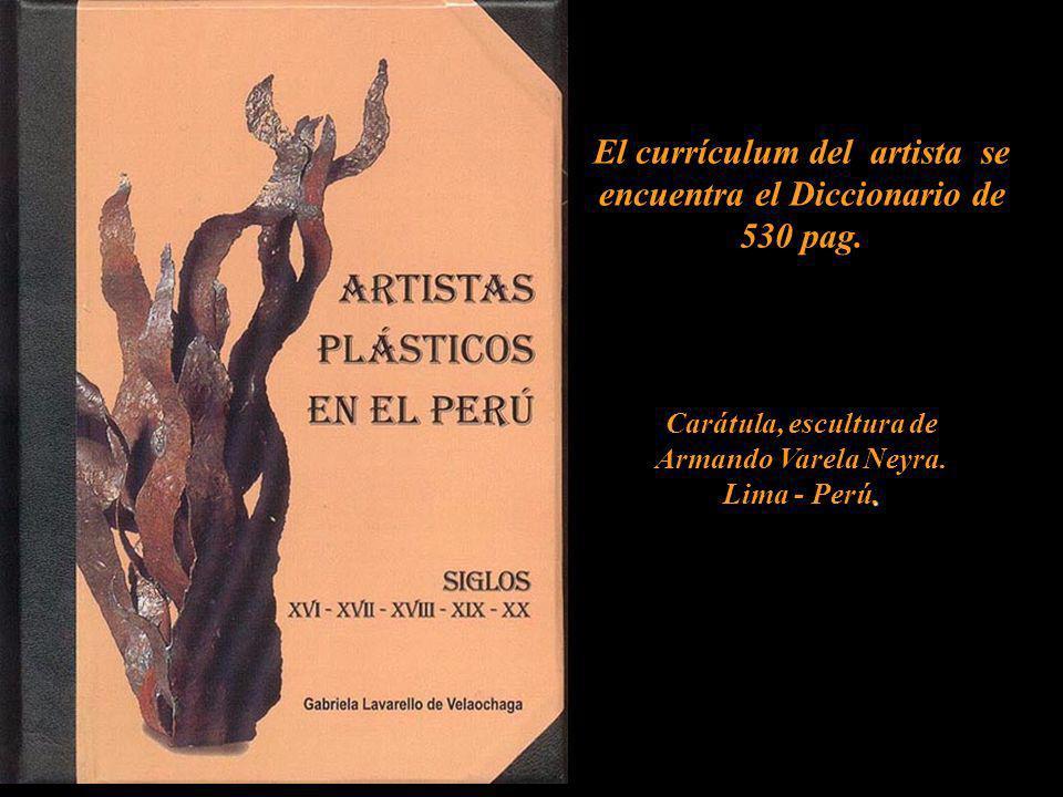 El currículum del artista se encuentra el Diccionario de 530 pag