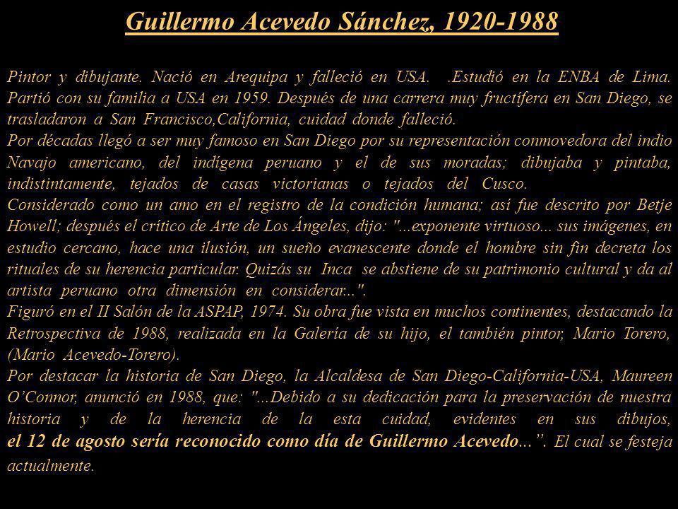 Guillermo Acevedo Sánchez, 1920-1988