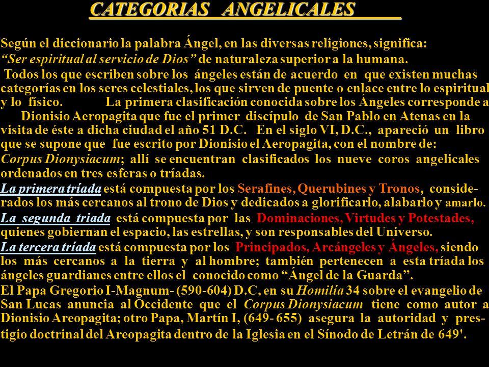 CATEGORIAS ANGELICALES