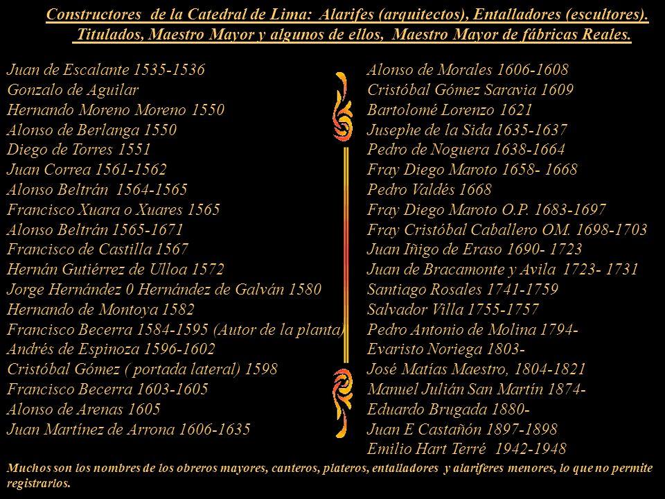 Hernando Moreno Moreno 1550 Alonso de Berlanga 1550
