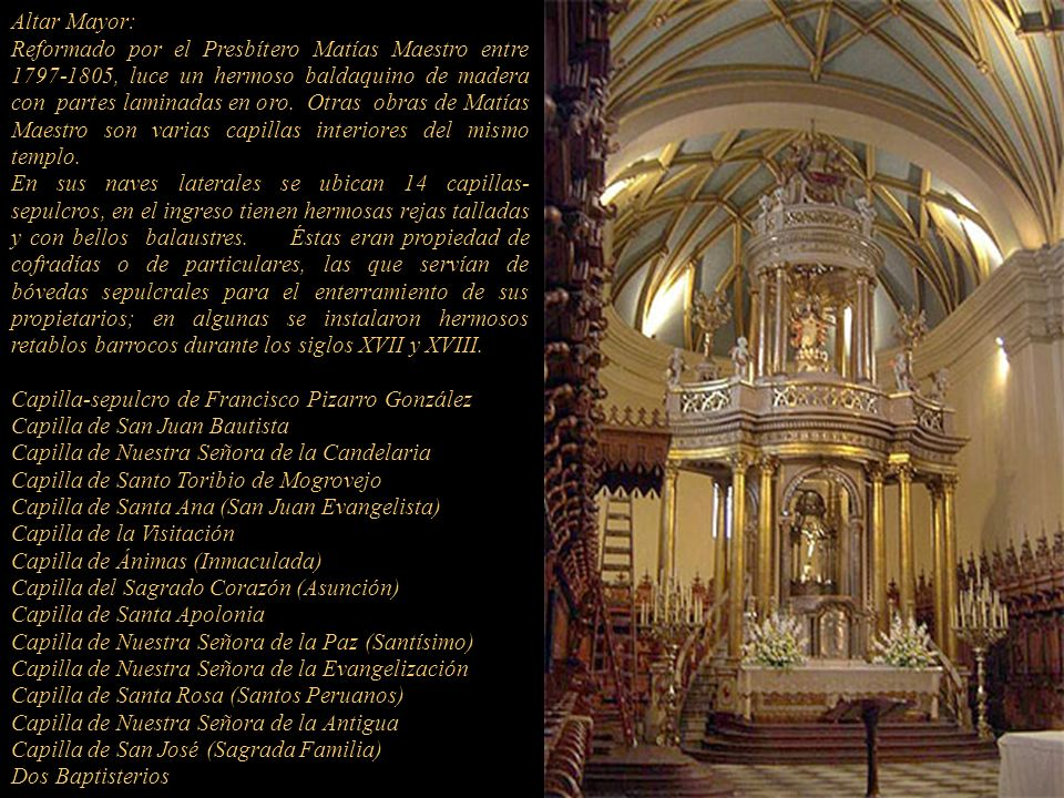 Altar Mayor: