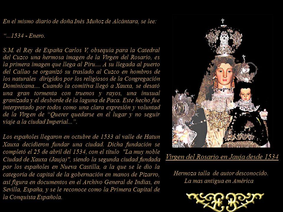 Virgen del Rosario en Jauja desde 1534