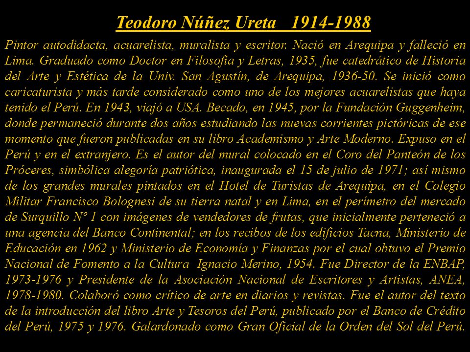 Teodoro Núñez Ureta 1914-1988