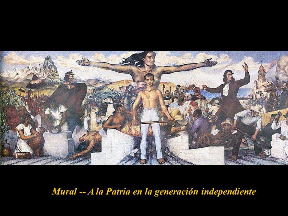 Mural -- A la Patria en la generación independiente