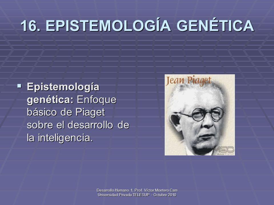 16. EPISTEMOLOGÍA GENÉTICA