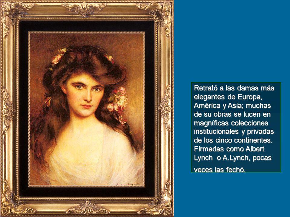 Retrató a las damas más elegantes de Europa, América y Asia; muchas de su obras se lucen en magníficas colecciones institucionales y privadas de los cinco continentes.