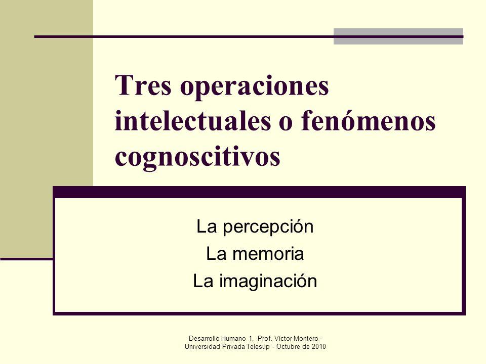 Tres operaciones intelectuales o fenómenos cognoscitivos