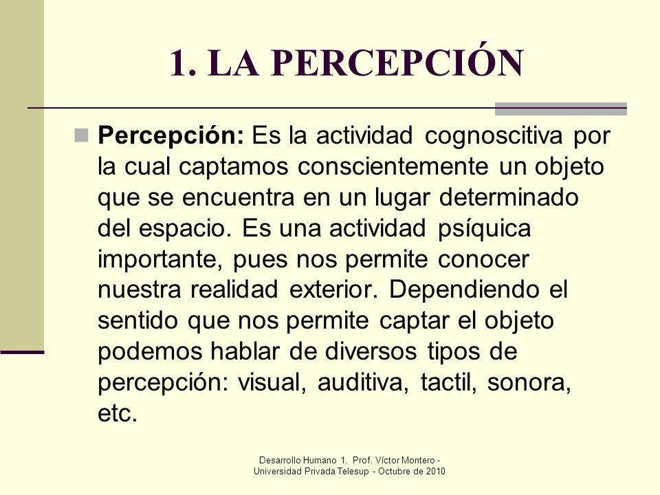 1. LA PERCEPCIÓN