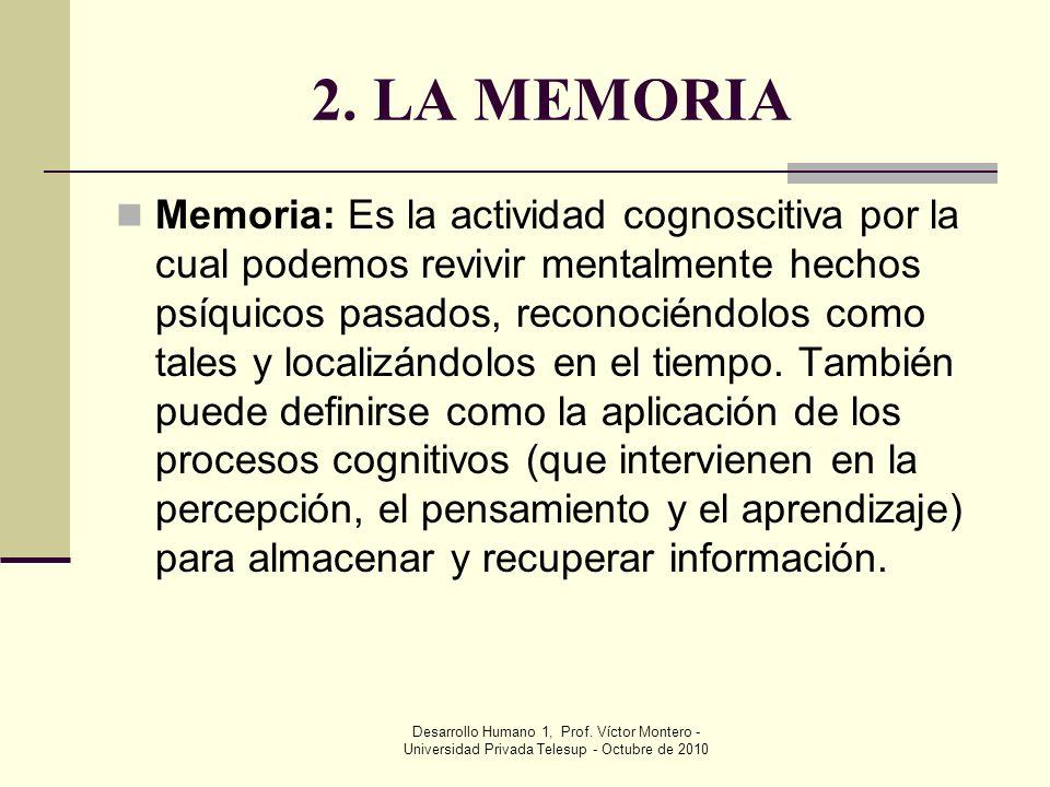 2. LA MEMORIA
