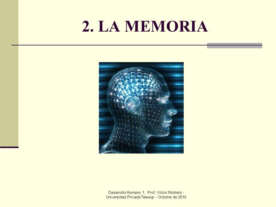 2. LA MEMORIA Desarrollo Humano 1, Prof.
