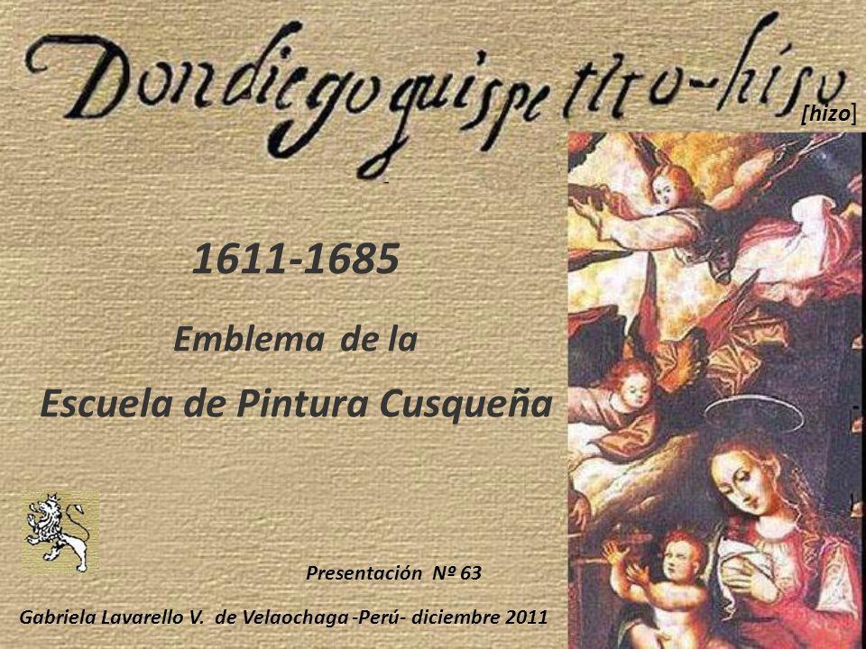 1611-1685 Emblema de la Escuela de Pintura Cusqueña