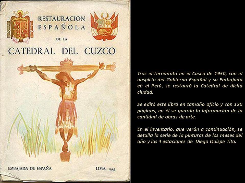 Tras el terremoto en el Cusco de 1950, con el auspicio del Gobierno Español y su Embajada en el Perú, se restauró la Catedral de dicha ciudad.