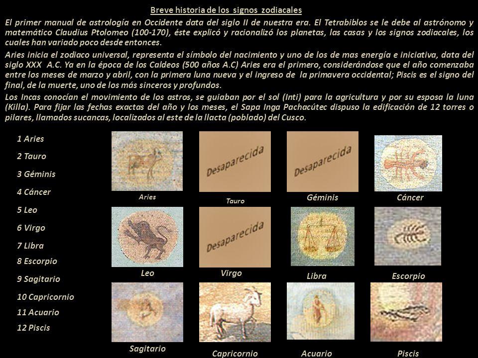 Breve historia de los signos zodiacales