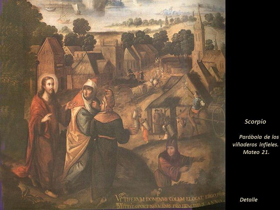 Scorpio Parábola de los viñaderos infieles. Mateo 21.