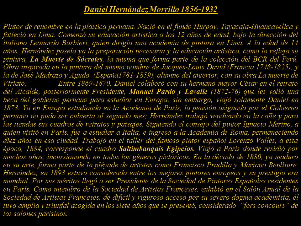 Daniel Hernández Morrillo 1856-1932