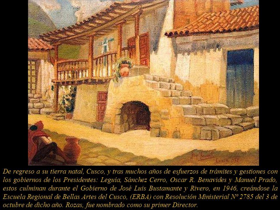 De regreso a su tierra natal, Cusco, y tras muchos años de esfuerzos de trámites y gestiones con los gobiernos de los Presidentes: Leguía, Sánchez Cerro, Oscar R.