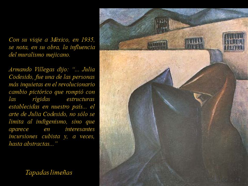 Con su viaje a México, en 1935, se nota, en su obra, la influencia del muralismo mejicano.