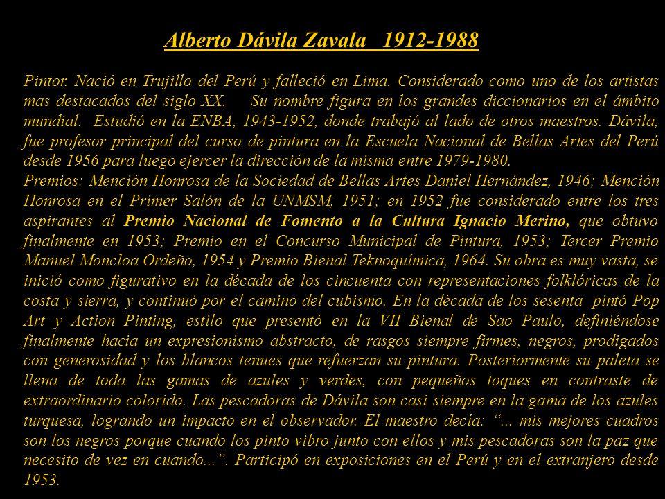 Alberto Dávila Zavala 1912-1988