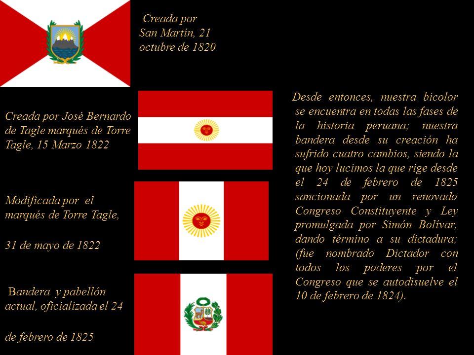 Creada por San Martín, 21 octubre de 1820