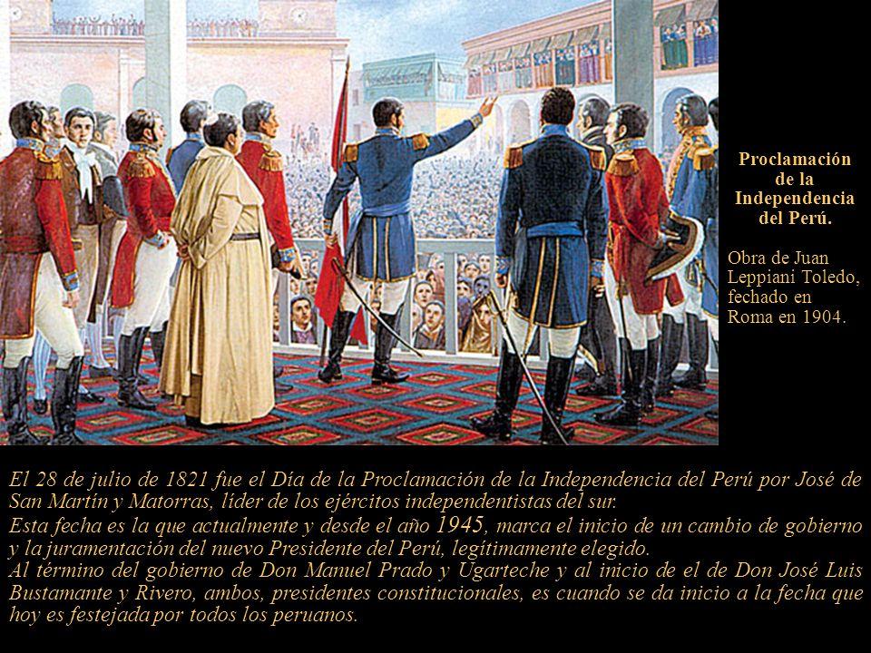 Proclamación de la Independencia del Perú.
