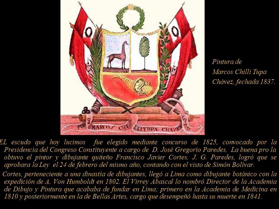 Pintura deMarcos Chilli Tupa. Chávez, fechada 1837.