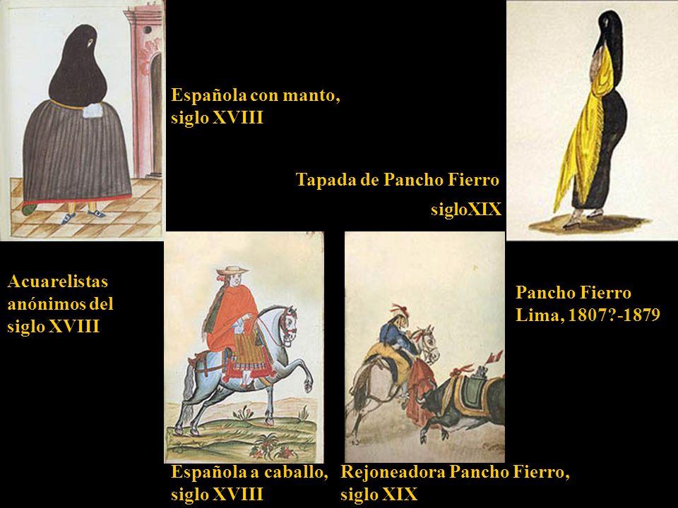 Española con manto, siglo XVIII