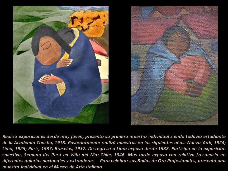 Realizó exposiciones desde muy joven, presentó su primera muestra individual siendo todavía estudiante de la Academia Concha, 1918.