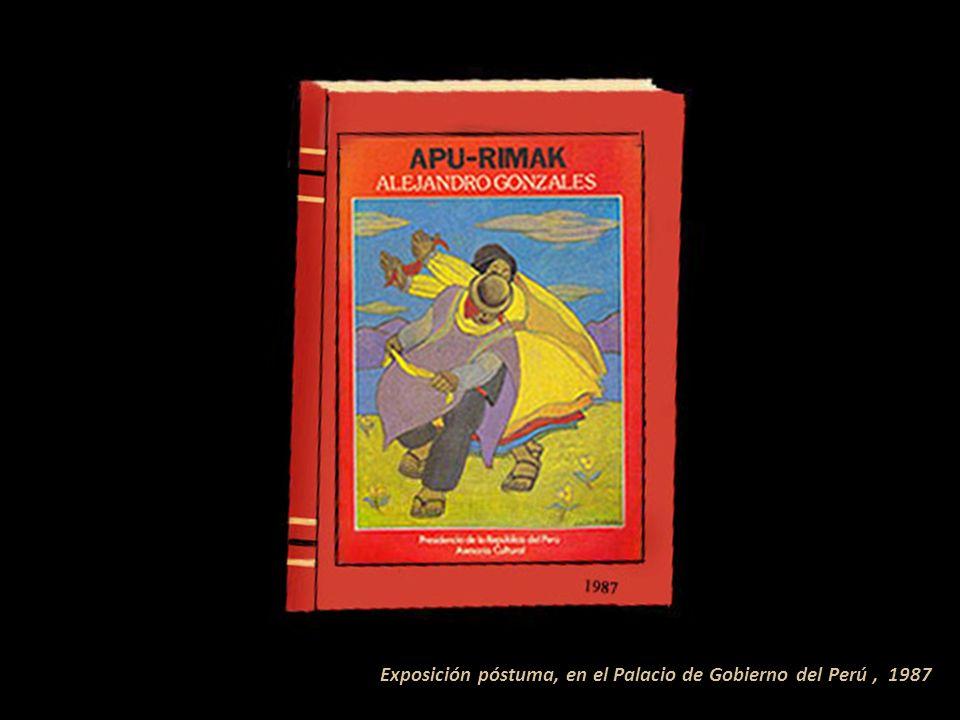Exposición póstuma, en el Palacio de Gobierno del Perú , 1987