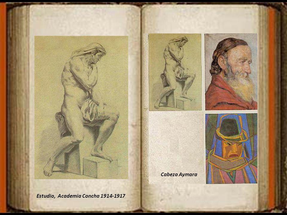 Cabeza Aymara Estudio, Academia Concha 1914-1917