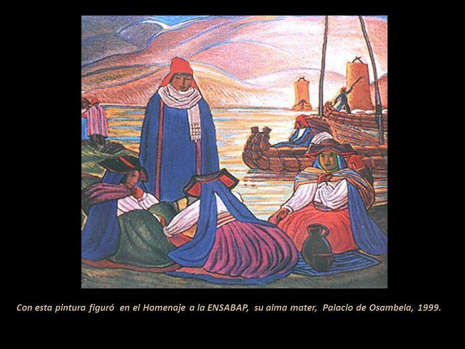 Con esta pintura figuró en el Homenaje a la ENSABAP, su alma mater, Palacio de Osambela, 1999.