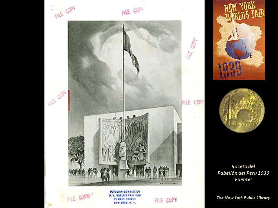 Boceto del Pabellón del Perú 1939 Fuente: The New York Public Library