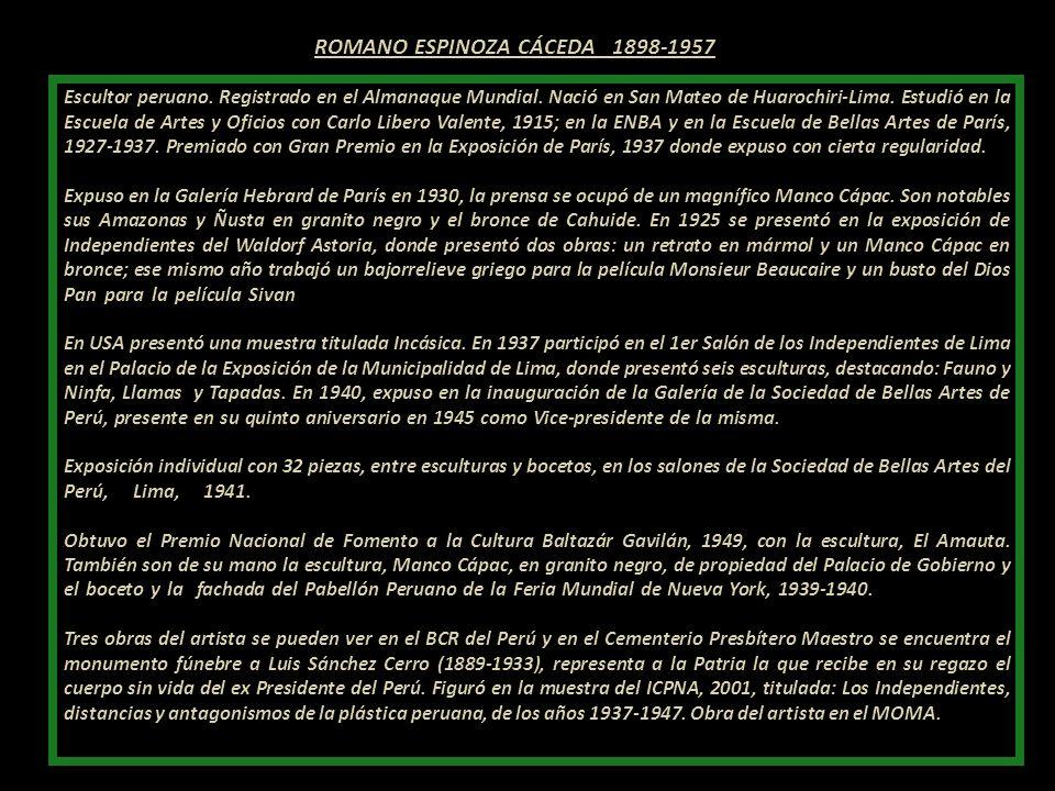 ROMANO ESPINOZA CÁCEDA 1898-1957