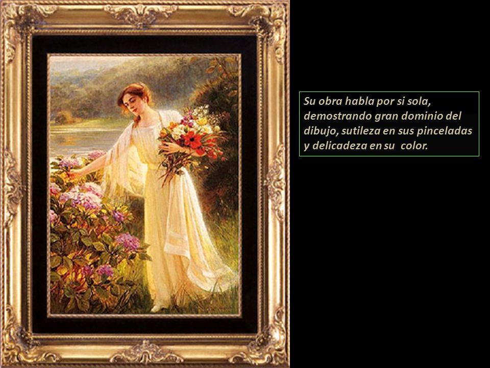 Su obra habla por si sola, demostrando gran dominio del dibujo, sutileza en sus pinceladas y delicadeza en su color.