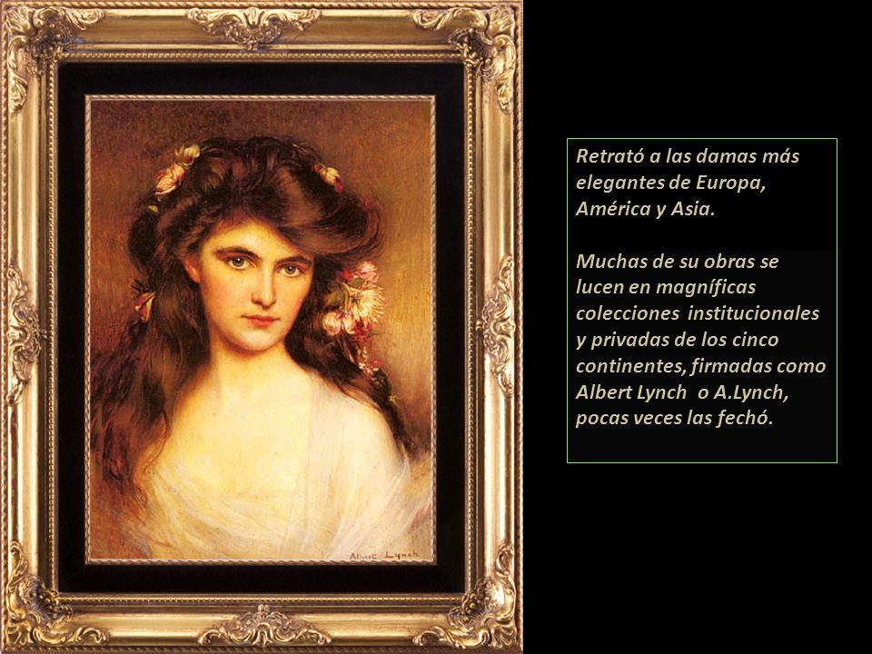 Retrató a las damas más elegantes de Europa, América y Asia.