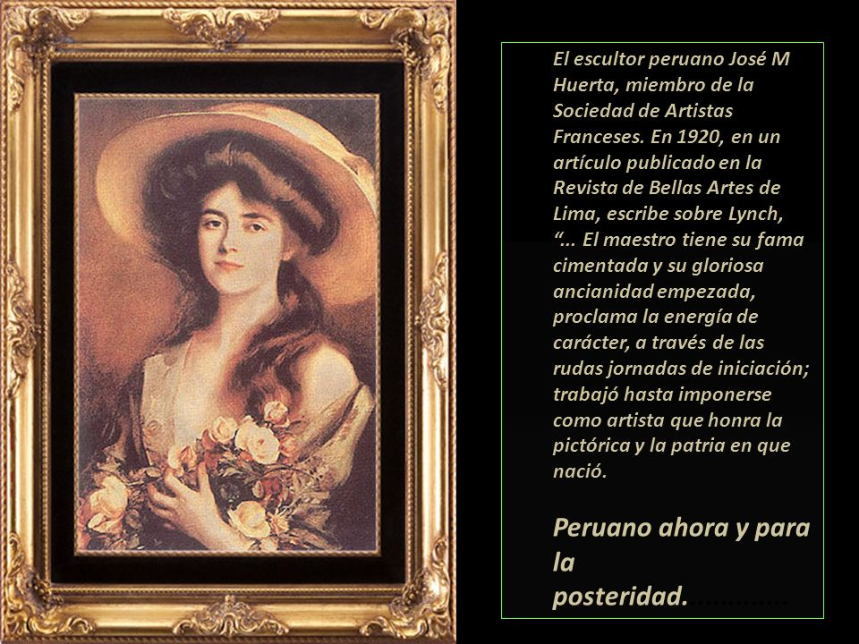 Peruano ahora y para la posteridad..............