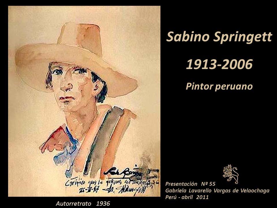 Sabino Springett 1913-2006 Pintor peruano Presentación Nº 55