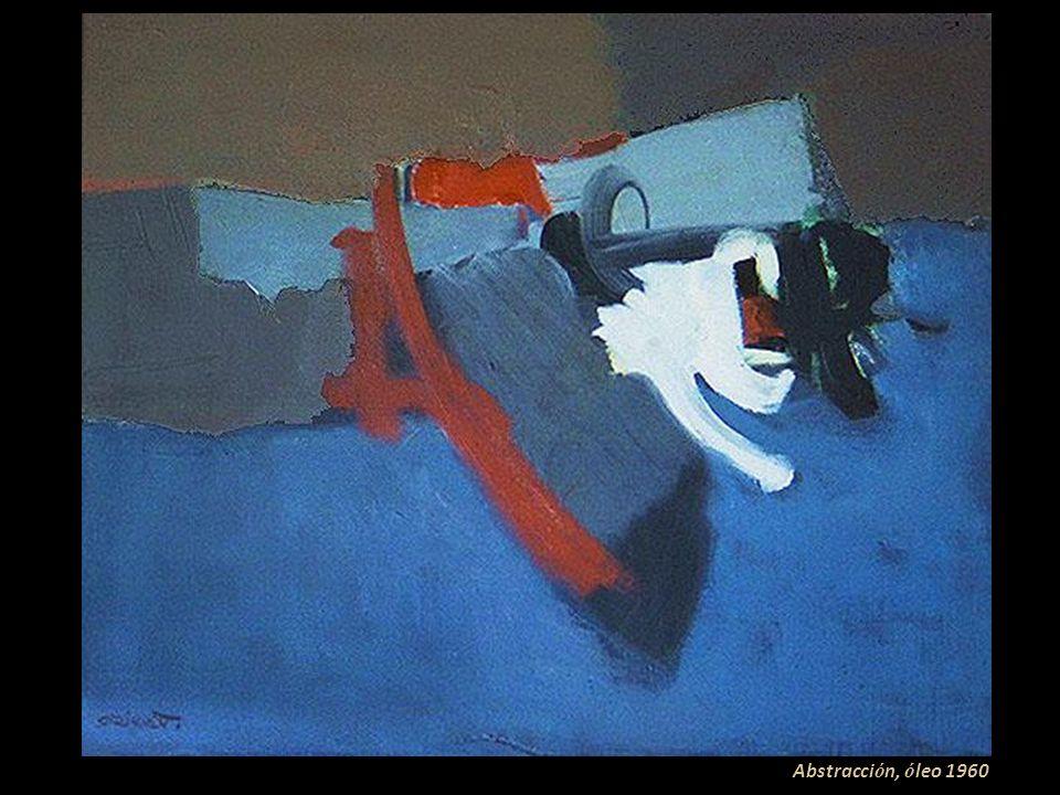 Abstracción, óleo 1960
