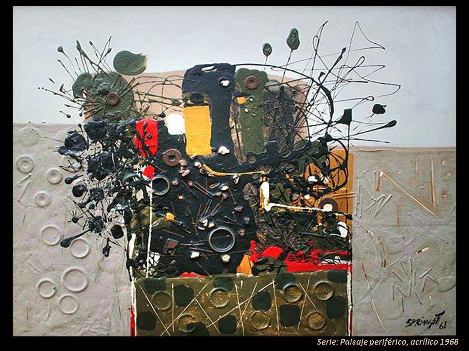Serie: Paisaje periférico, acrílico 1968