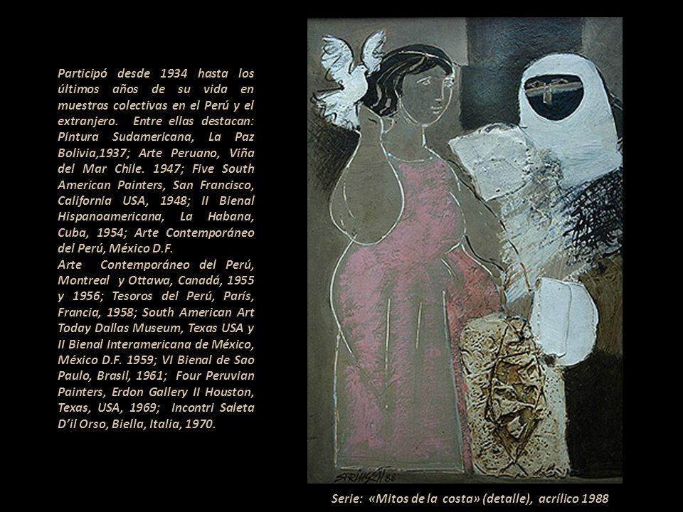 Serie: «Mitos de la costa» (detalle), acrílico 1988