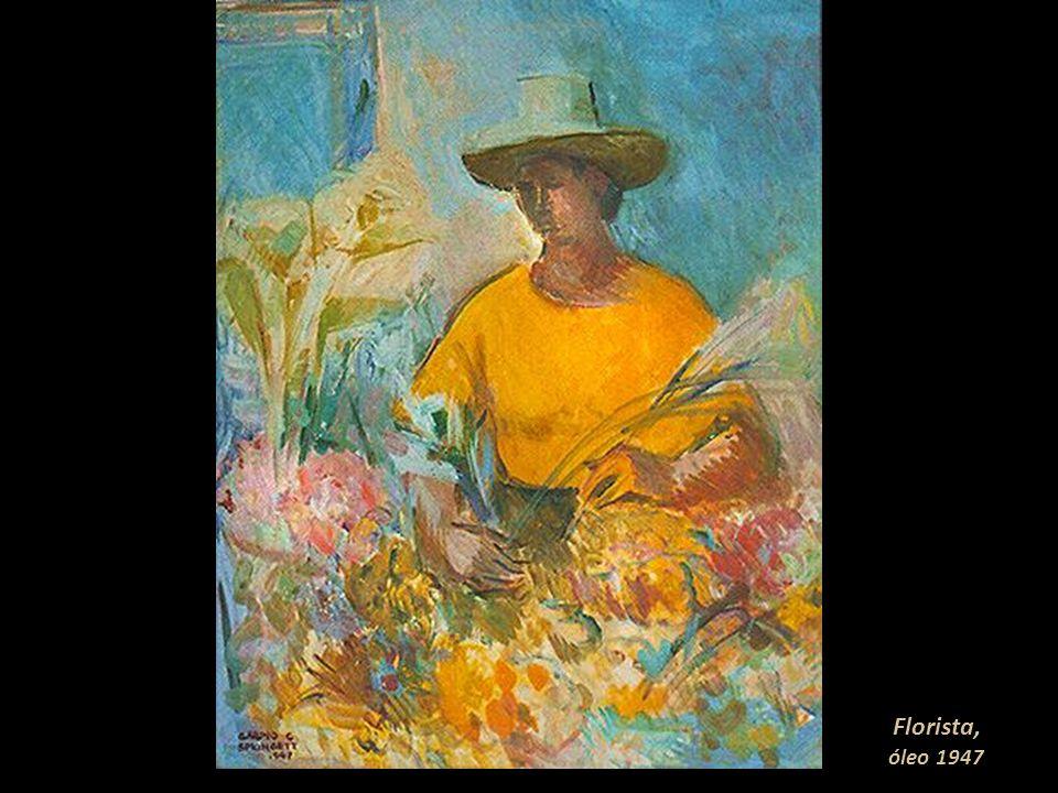 Florista, óleo 1947